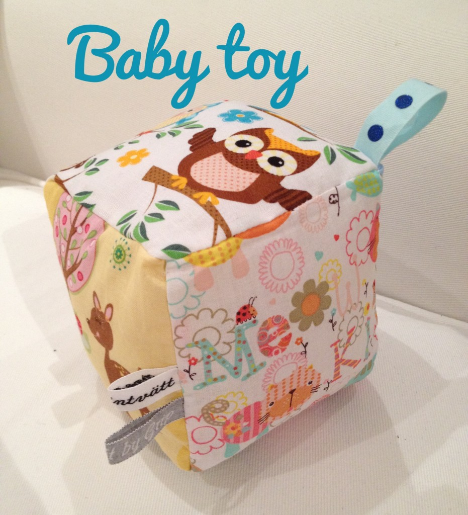 Stuffed baby toy cube